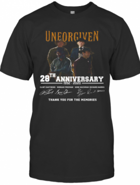 Unforgiven Movie 28Th Anniversary 1992 2020 Thank You For The Memories Signatures T-Shirt