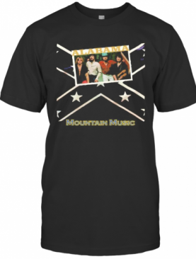 Alabama Band Mountain Music British Flag T-Shirt