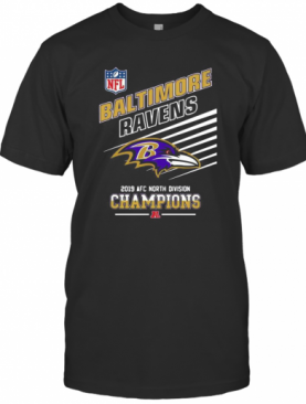 Baltimore Ravens Football 2019 Afc North Division Champions T-Shirt