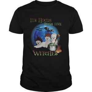 Bichon fries Halloween Its hocus pocus time witches shirt