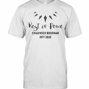 Black Panther Rest In Peace Rip Chadwick 1977 2020 T-Shirt