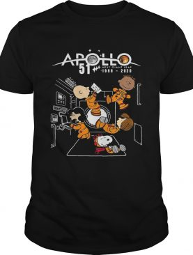 Charlie brown and snoopy apollo 51 next giant leap 1969 2020 shirt