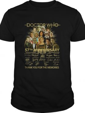 Doctor Who 57th Anniversary 1963 2020 Characters Signatures shirt