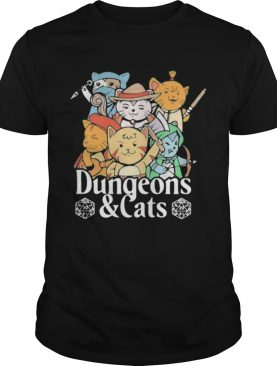 Dungeons And Cats Game Characters Art shirt