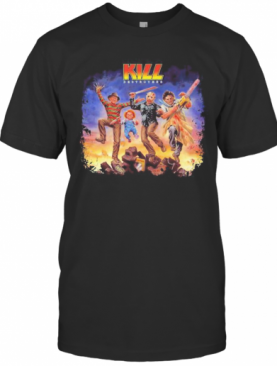 Halloween Horror Characters Kiss Destroyers T-Shirt