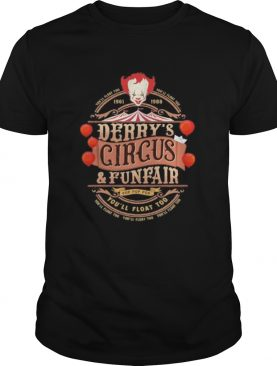 Halloween pennywise youll float 100 derrys circus and funfair shirt