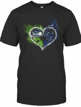 Heart Seattle Seahawks And Vancouver Canucks T-Shirt