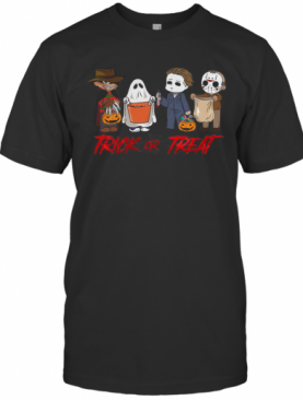 Horror Character Trick Or Treat Halloween T-Shirt