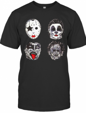 Horror Movie Character Faces Halloween T-Shirt