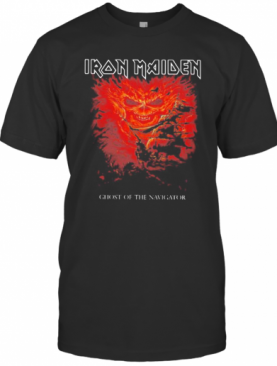 Iron Maiden Band Skeleton Ghost Of The Navigator T-Shirt