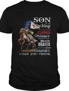 Knight armor riding horse son of the king child of god stronger than you believe braver than you kn