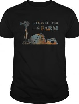 Life is better on the farm sunset shirt