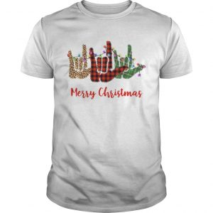Merry christmas hand sign language leopard  Unisex