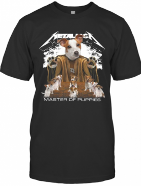 Russell Terrier Metallica Master Of Puppies T-Shirt