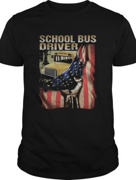 School bus driver american flag independence day shirt