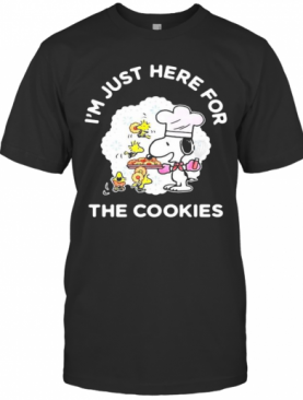 Snoopy And Woodstock I'M Just Here For The Cookies T-Shirt