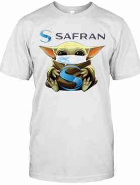 Star Wars Baby Yoda Mask Hug Safran T-Shirt