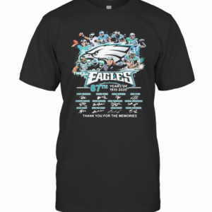 The Philadelphia Eagles 87Th Years Of 1933 2020 Thank You For The Memories Signatures T-Shirt Classic Men's T-shirt