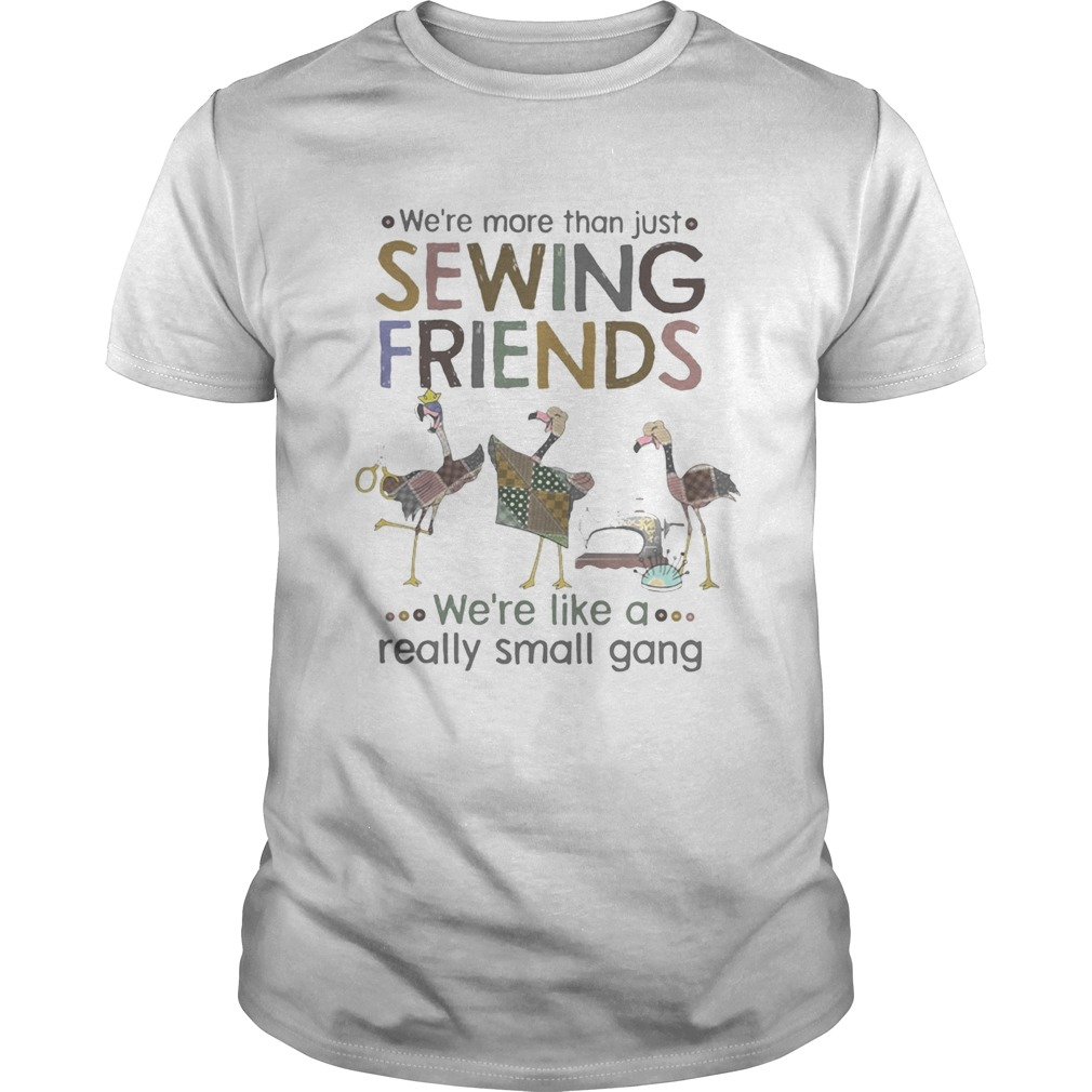 WERE MORE THAN JUST SEWING FRIENDS WERE LIKE A REALLY SMALL GANG FLAMINGO  Unisex