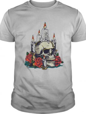 Day Of The Dead With Roses Vintage Skull shirt
