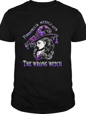 Fibromyalgia awareness wrong witch ladies halloween shirt