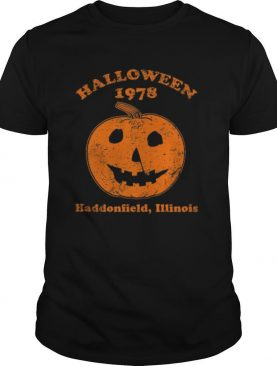 Halloween 1978 holiday spooky gift myers pumpkin haddonfield shirt
