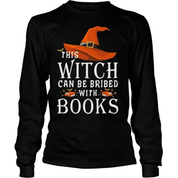 Halloween this witch can be bribed with books shirt