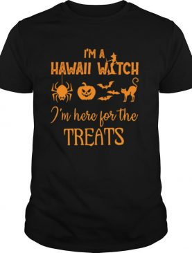 I'm a hawaii witch i'm here for the treats halloween shirt