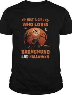 Just A Girl Who Loves Dachshund Halloween shirt