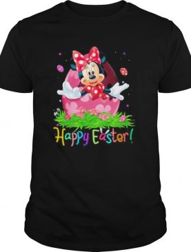 Minnie mouse happy easter flowers shirt