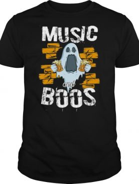 Music And Boos Ghost Funny Halloween Costume Beer Drinking shirt