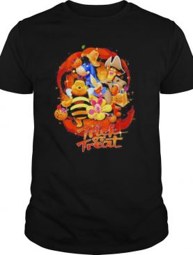 Pooh and friends trick or treat pumpkin happy halloween shirt
