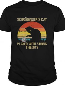 Schrodinger's Cat Played With String Theory Vintage Retro shirt