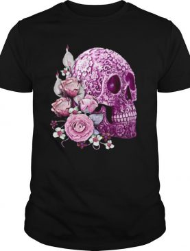 Skull Day Of The Dead Pink Flowers shirt