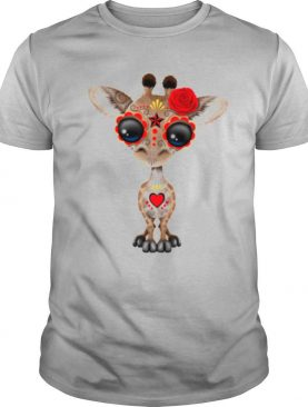 Skull Giraffe Day Of The Dead Muertos shirt