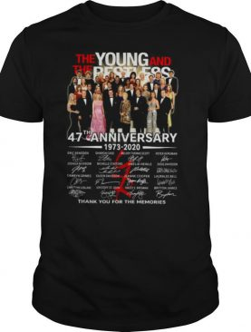 The Young and The Restless 47th Anniversary 1973 2020 Thank You For The Memories Signature shirt