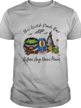This Witch Needs Beer Before Any Hocus Pocus Halloween shirt