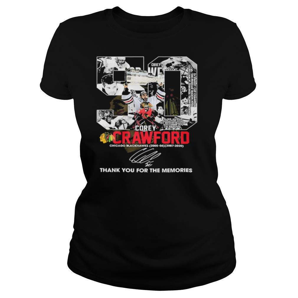 50 Corey Crawford Chicago Blackhawks Thank You For The Memories shirt