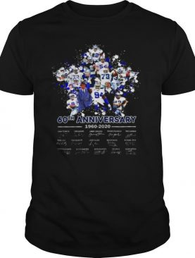 Dallas Cowboys 60th Anniversary 1960 2020 Signatures shirt