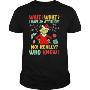 Green Wait What I Have An Attitude No Really Who Knew Christmas shirt