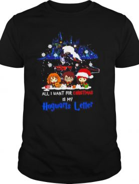 Harry Potter all I want for Christmas is my Hogwarts letter shirt