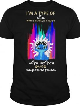 I'm a type of girl who is perfectly happy with stitch and supernatural shirt