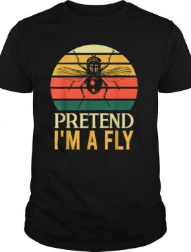 Pretend Im a Fly Lazy Halloween Vintage Retro shirt