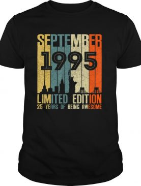 September 1995 Limited Edition 25 Years Of Being Anwesome shirt