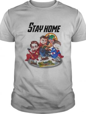 Stay home marvel heroes supernatural shirt