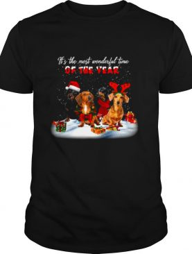 Dachshunds Its The Most Wonderful Time Of The Year Merry Christmas Gift shirt