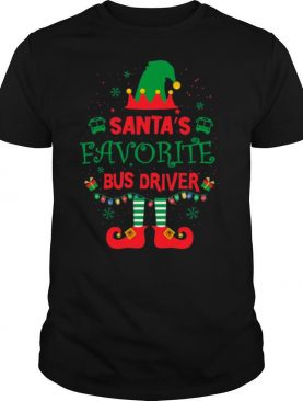 ELF Santas Favorite Bus Driver Merry Christmas tshirt