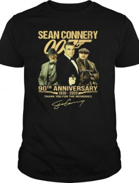 Sean Connery 007 90th Anniversary 1930 2020 Thank You For The Memories Signature shirt