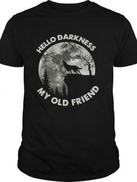 Wolf in the Moon hello darkness my old friend shirt