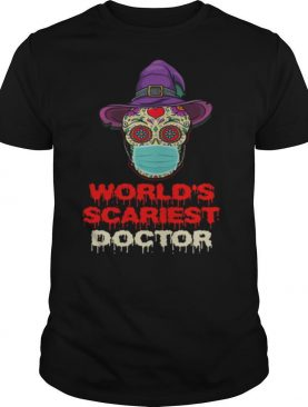 World's Scariest Doctor Skull Tattoos Witch Face Mask Halloween shirt